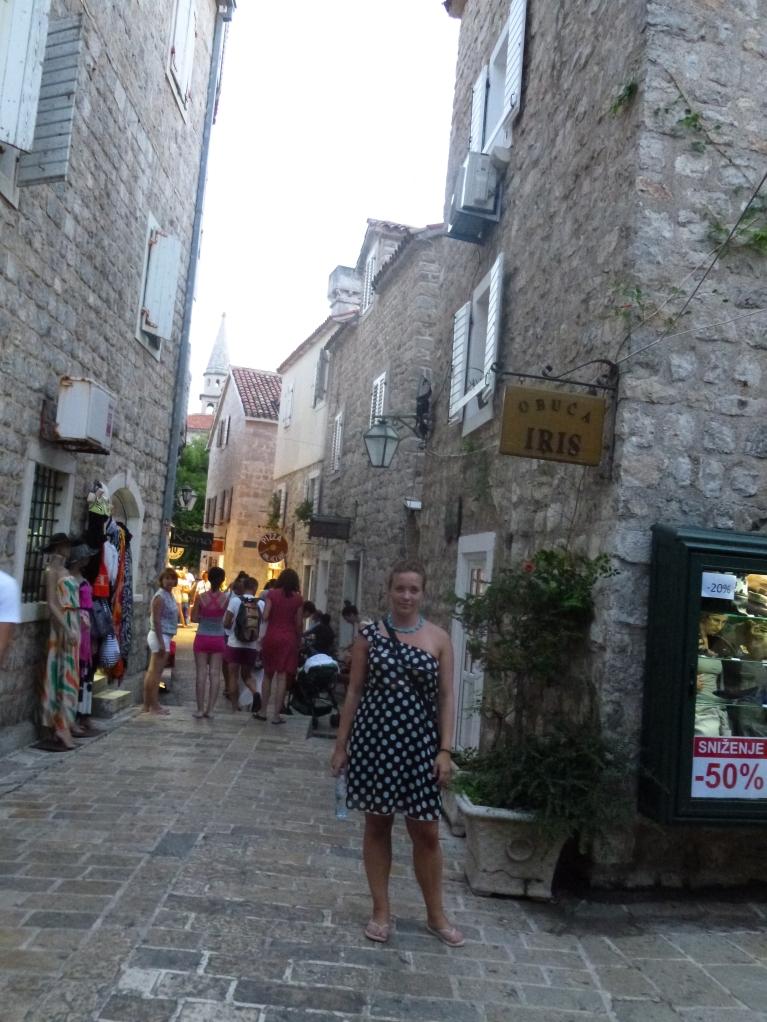 Standing in a street in Budva