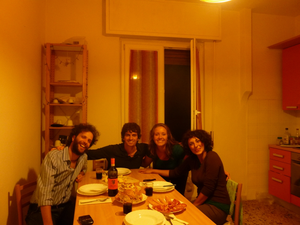 My hosts and I in Florence