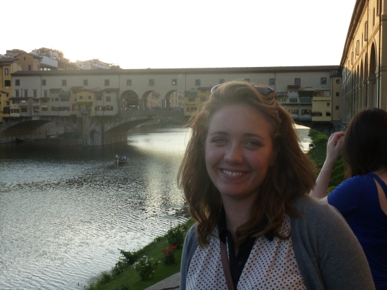 Me with the Ponte Vecchio in the background