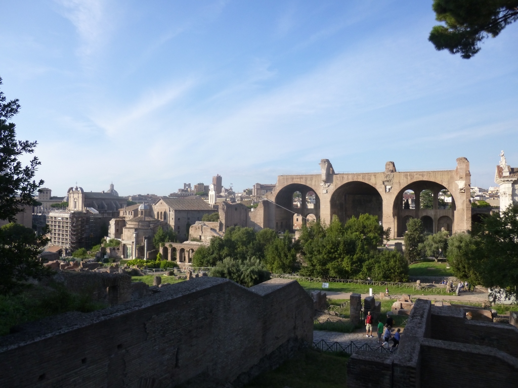 View of the Roman Forum from the Palatine Hill gardens