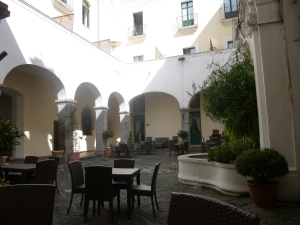 Patio at the hostel