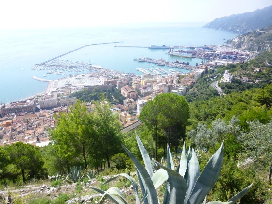 View of Salerno Harbour from Arechi Castle