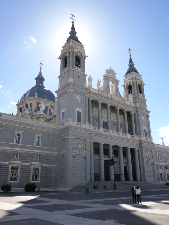 Almudena Cathedral beside the Royal Palace