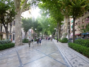 Pedestrian street in Granada