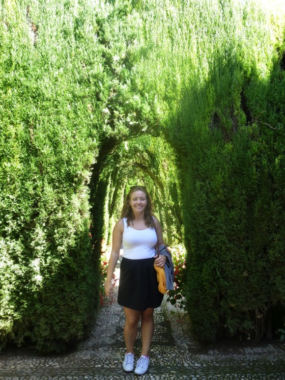 Me in the botanical gardens, Alhambra
