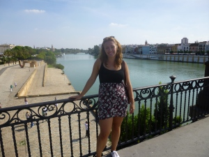 Standing on a bridge over the river, Sevilla